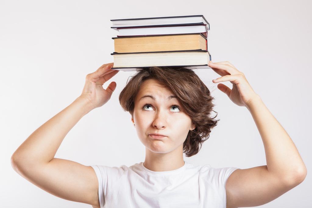 libri sulla testa