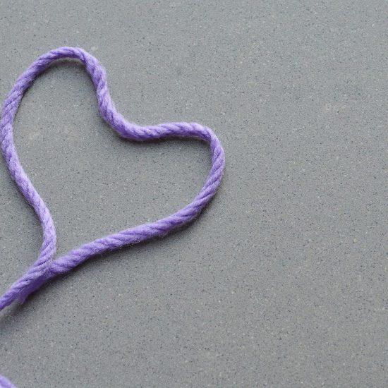 filo di lana cuore