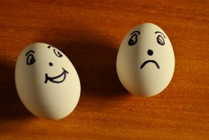 uovo felice e uovo triste